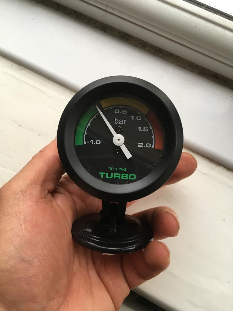 db871e2f0b82 Tim Turbo boost gauge complete with dash mounting pod - £23 posted - SOLD  Tim electric oil pressure ...